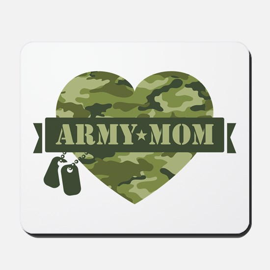 Camo Heart Army Mom Mousepad