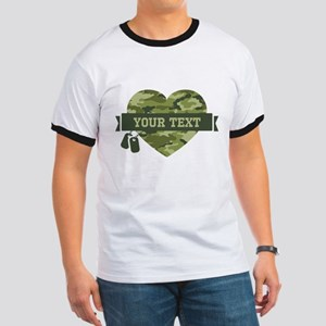 PD Army Camo Heart Ringer T