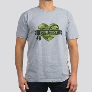 PD Army Camo Heart Men's Fitted T-Shirt (dark)