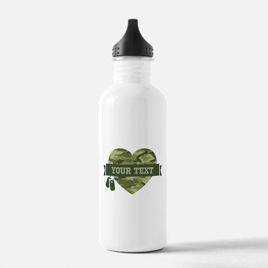 PD Army Camo Heart Water Bottle