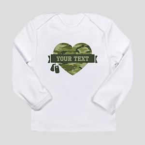 PD Army Camo Heart Long Sleeve Infant T-Shirt