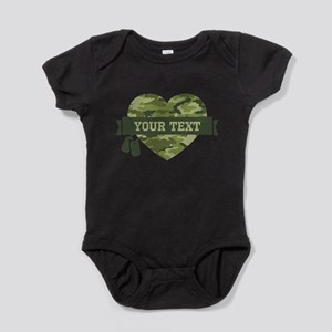 PD Army Camo Heart Baby Bodysuit