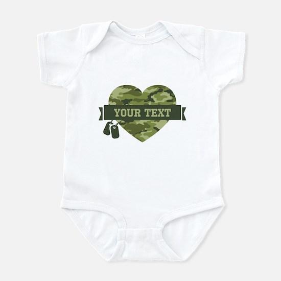 PD Army Camo Heart Infant Bodysuit