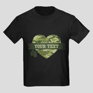 PD Army Camo Heart Kids Dark T-Shirt