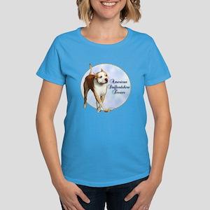 AmStaff Portrait Women's Dark T-Shirt