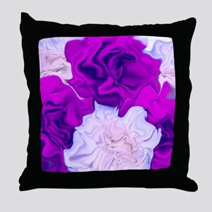 incredible flowers,pink lila Throw Pillow