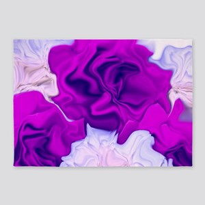 incredible flowers,pink lila 5'x7'Area Rug