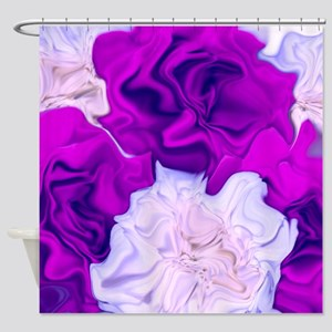 incredible flowers,pink lila Shower Curtain