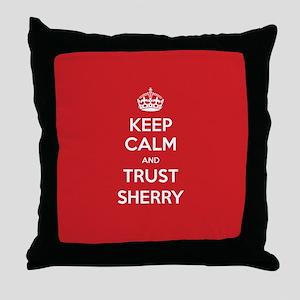 Trust Sherry Throw Pillow