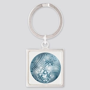 Disco Ball / Mirror Ball / Glitter Square Keychain