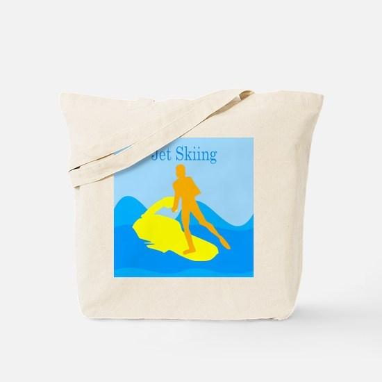 Jet Skiing Tote Bag
