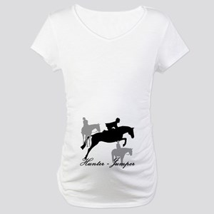 Hunter Jumper Trio Script Maternity T-Shirt
