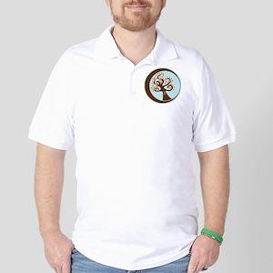 Owl in tree - Crescent Moon Golf Shirt