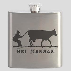 Ski Kansas Flask