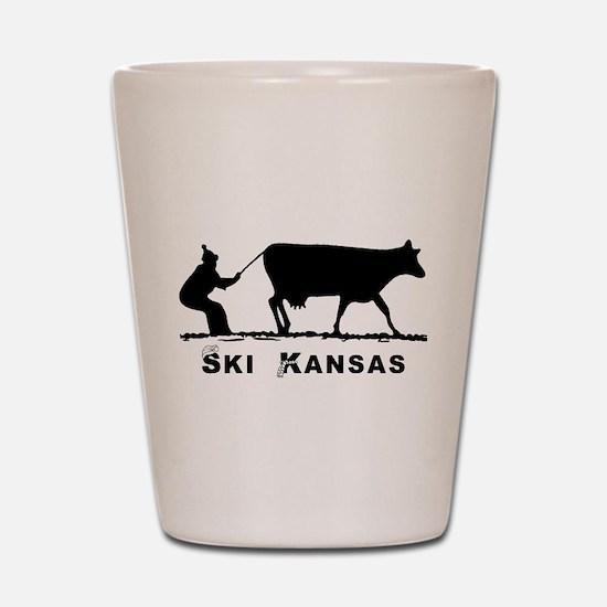 Ski Kansas Shot Glass
