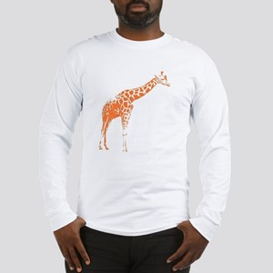 Orange Giraffe Long Sleeve T-Shirt