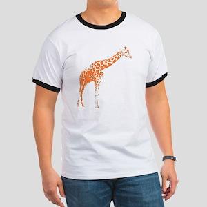 Orange Giraffe Ringer T