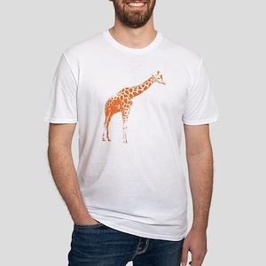 Orange Giraffe Fitted T-Shirt