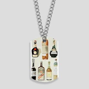 Vintage Liquor Bottles Dog Tags