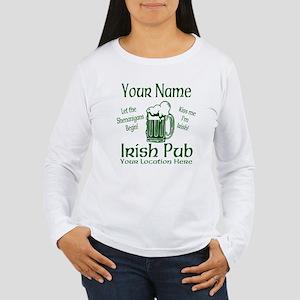 Custom Irish pub Long Sleeve T-Shirt