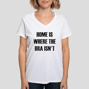 Home is Where  Women's V-Neck T-Shirt