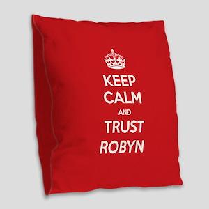 Trust Robyn Burlap Throw Pillow