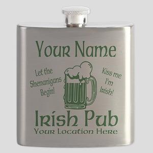 Custom Irish pub Flask