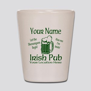 Custom Irish pub Shot Glass