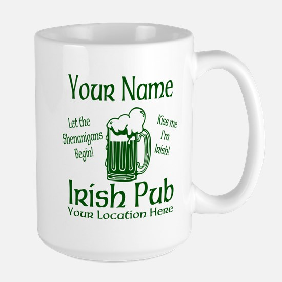 Custom Irish pub Mugs