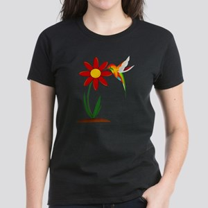 Colorful Hummingbird Women's Dark T-Shirt