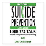 Suicide prevention Square Car Magnets