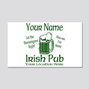 Custom Irish pub Wall Decal