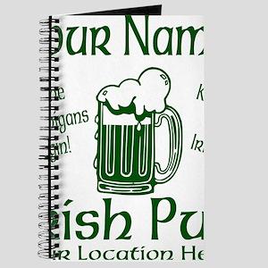 Custom Irish pub Journal