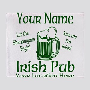 Custom Irish pub Throw Blanket