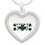 Lucky Lucky You Silver Heart Necklace