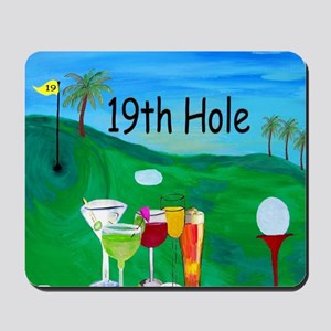 Golf 19th hole art Mousepad