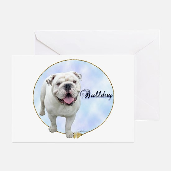 Bulldog Portrait Greeting Cards (Pk of 10)