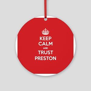 Trust Preston Ornament (Round)