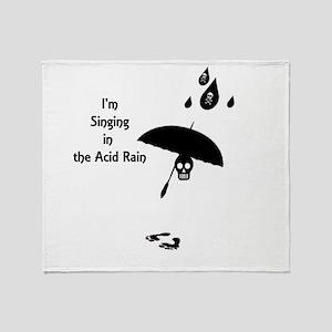 Funny Singing in the Acid Rain Throw Blanket