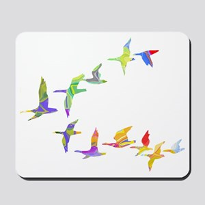 Colorful geese Mousepad