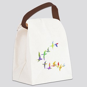 Colorful geese Canvas Lunch Bag