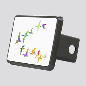 Colorful geese Rectangular Hitch Cover