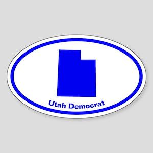 Utah BLUE STATE Oval Sticker