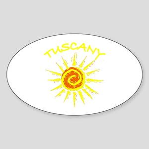 Tuscany, Italy Oval Sticker