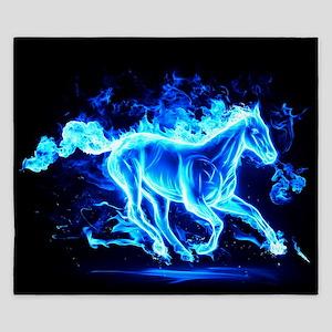 Flamed Horse King Duvet
