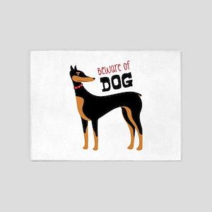 Beware Of Dog 5'x7'Area Rug