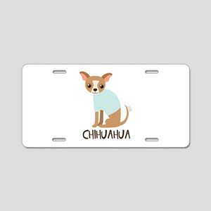 Chihuahua Aluminum License Plate