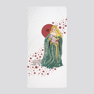Year of the Pig Beach Towel