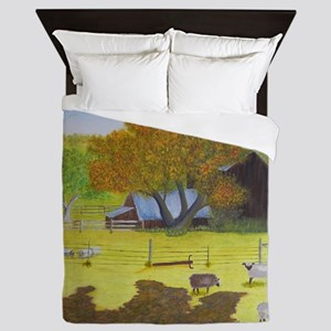 Waterford Barn and Sheep Queen Duvet