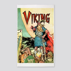 Vintage Viking 3'x5' Area Rug